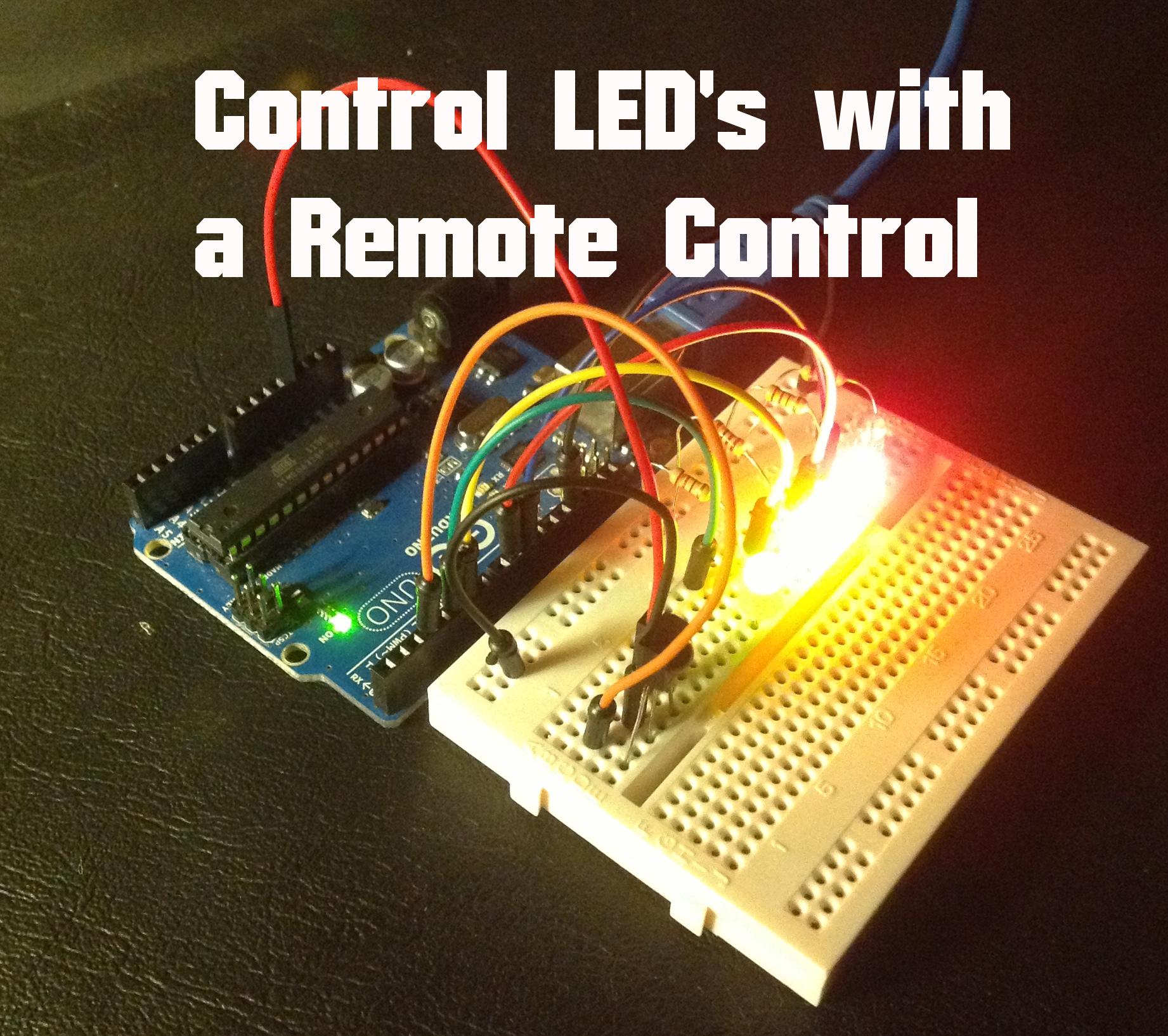 Arduino control led s with ir remote random