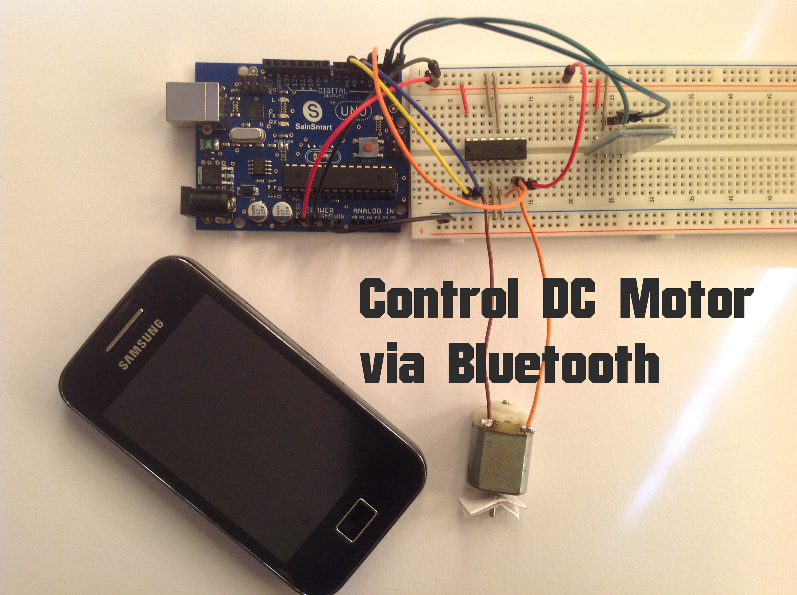 Arduino Control Dc Motor Via Bluetooth Random Nerd Tutorials Low Voltage Speed Circuit Electronic Circuits And
