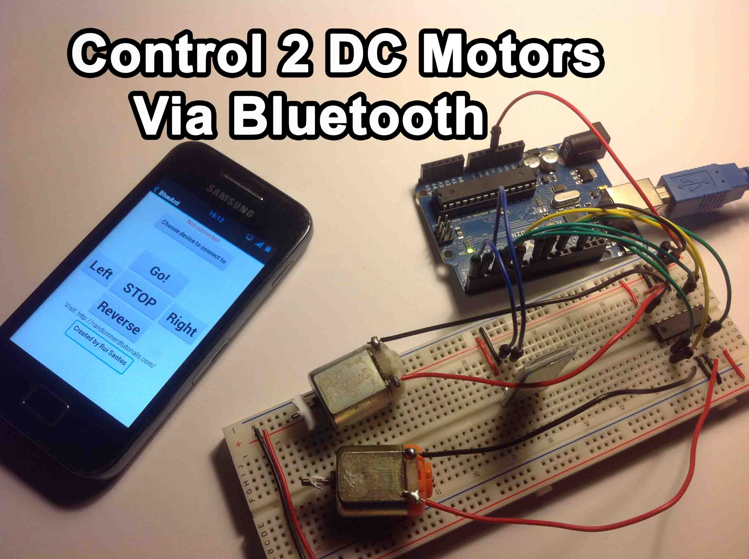 Arduino Control 2 Dc Motors Via Bluetooth Random Nerd Tutorials Android Based Home Automation System Circuit Block Diagram