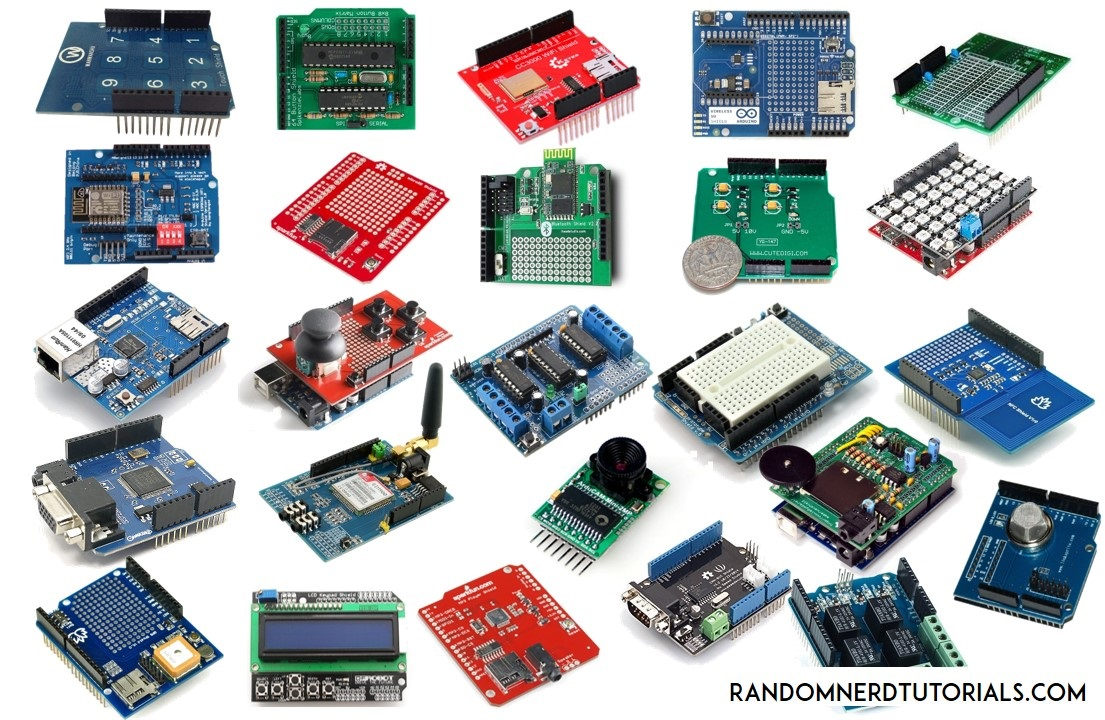 Useful arduino shields that you might need to get