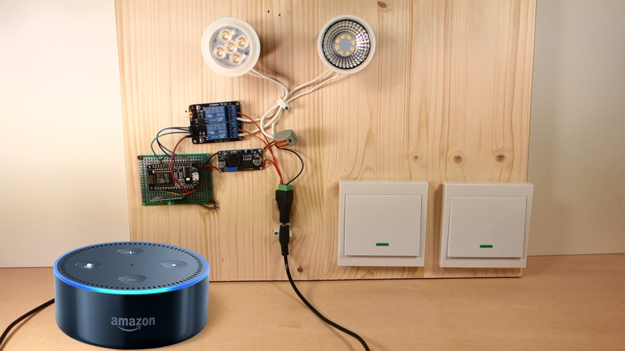Alexa Echo With Esp32 And Esp8266 Random Nerd Tutorials Switch Wiring Diagram